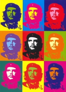 "This infamous Che Guevara painting is actually a forgery created by Gerard Malanga (who was in need of money) and sold to a gallery in Rome. When Warhol heard of the fraud, he ""authenticated"" the fake, provided that all the money from sales went to him."