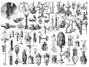 På skumringsmarkedet kan du få kjøpt de merkeligste ting. Illustrasjon: Maurice Dessertenne (public domain).