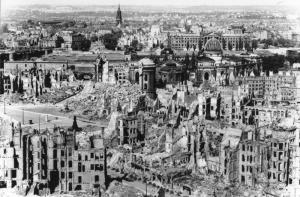 Dresden, zerstörtes Stadtzentrum
